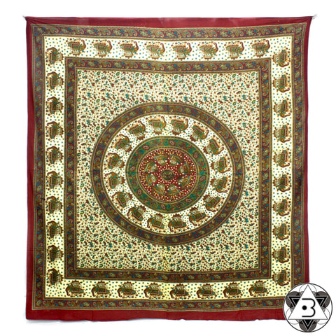 Green Elephant Mandala Throw