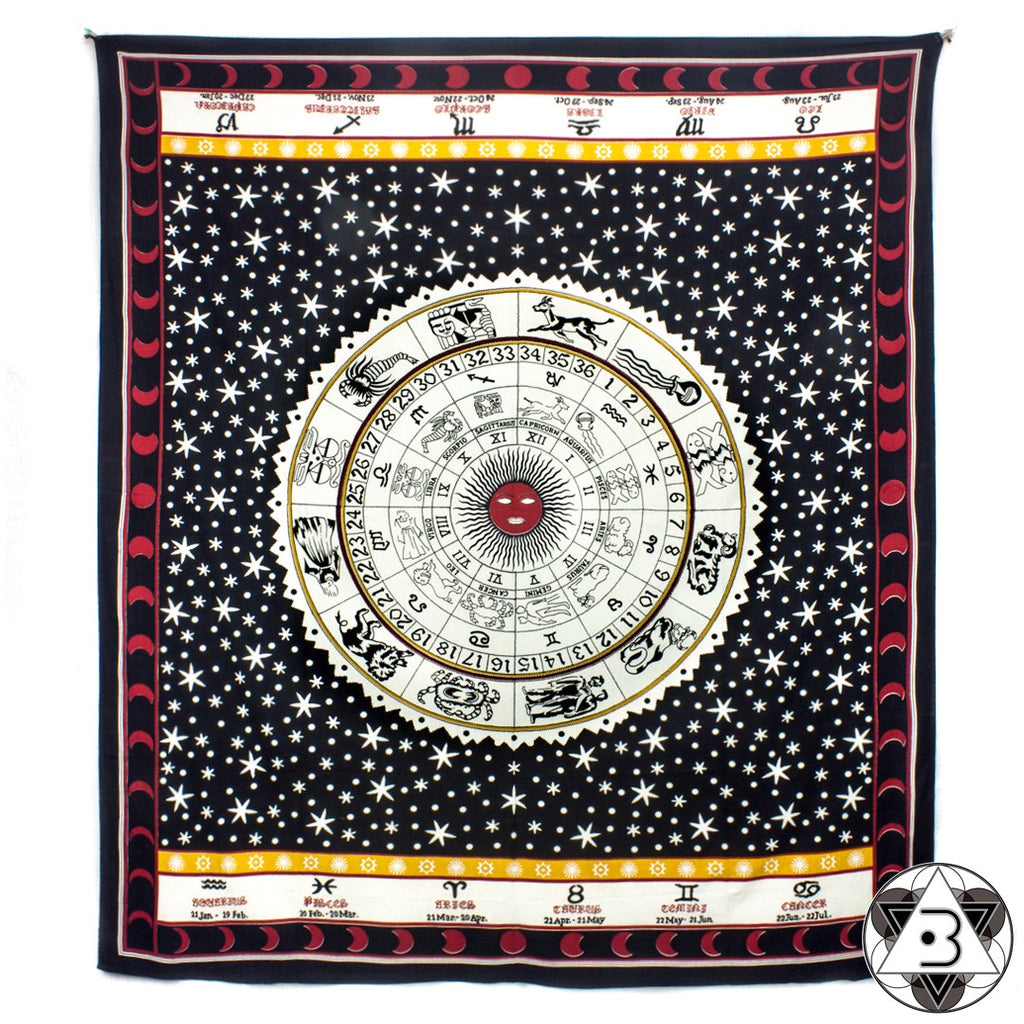 Red and Yellow Zodiac Throw