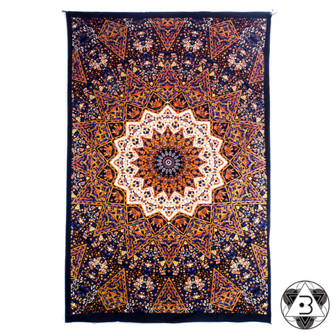 Orange Kaleidoscope Mandala Throw