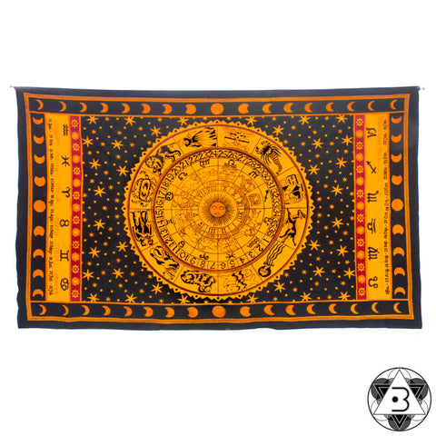 Orange Zodiac Throw
