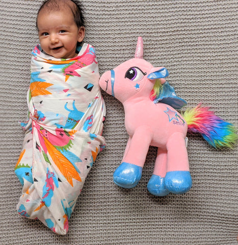 Muslin Swaddle, Extra Large - Unicorn