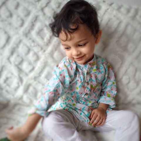 Muslin Kurta Pajama - Titli (0-12 Years)