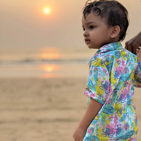 Tura Turi Muslin Shirt - Under The Sea