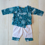 Muslin Kurta Pajama - Nayantaara -Blue (0 to 5 years)