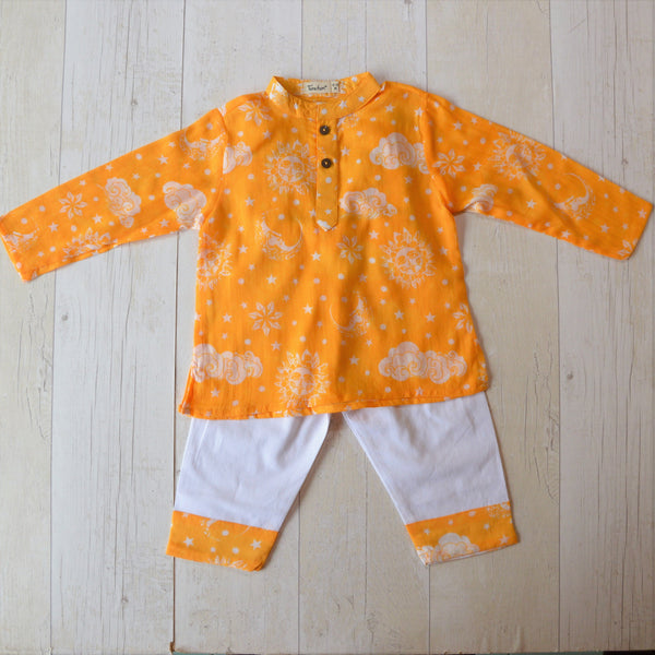 Muslin Kurta Pajama - Nayantaara - Yellow (6 months to 5 years)