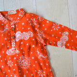 Muslin Kurta Pajama - Nayantaara - Red (6 months to 5 years)