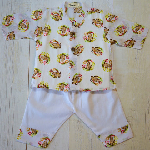 Muslin Kurta Pajama - Ellie-Phant - 0-5 Years