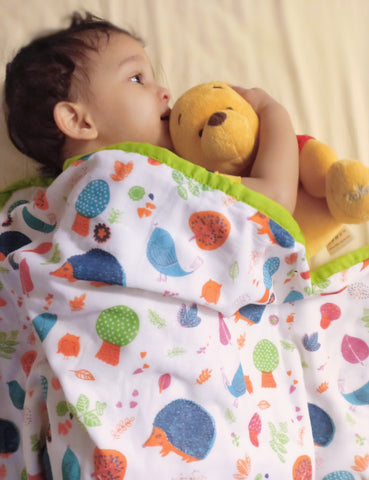 Muslin Baby Blanket - Jungle Ki Kahaani  (0-2 Years)