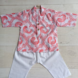 Muslin Kurta Pajama - Pyaare Panchhi - Pink (0 to 5 years)