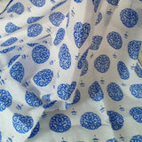 Muslin Swaddle Alpona - Royal Blue