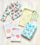 Newborn Muslin Gift Set - (Blanket, Swaddle, Clothes)