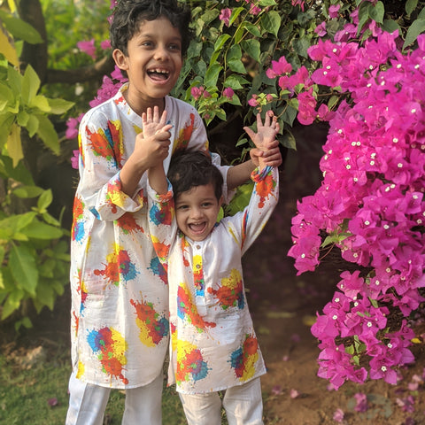 Muslin Kurta - Holi Splash - Limited Edition (KURTA ONLY) - 0-12 Years
