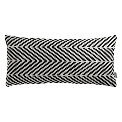 Agra Chevron Black & White Cushion