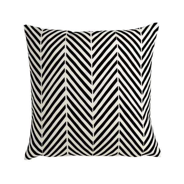Agra Chevron Black & White Scandi Cushion