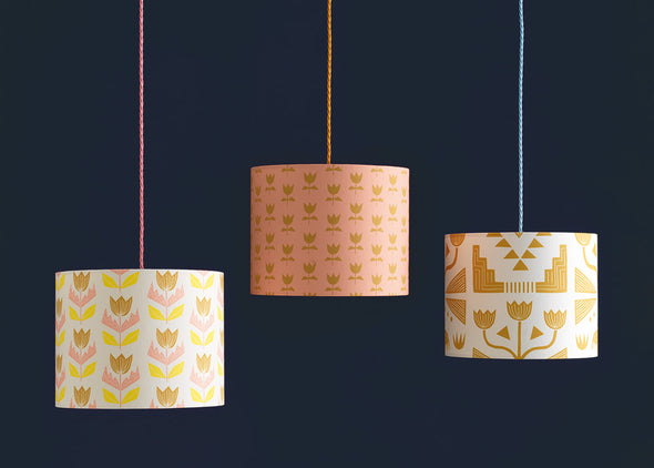 Elin Lampshade Sale – Cream Pollen Blush