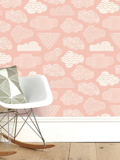 Clouds Wallpaper – Blush