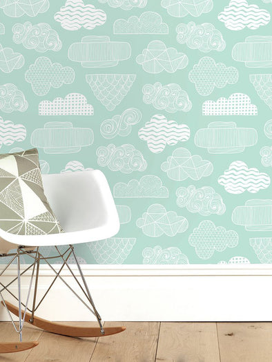 Clouds Wallpaper – Mint