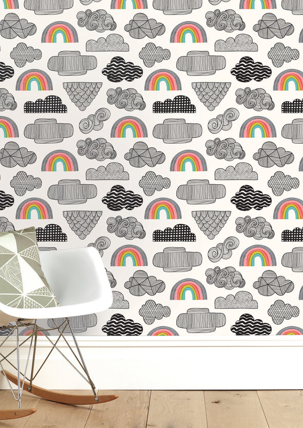 Clouds + Rainbows Wallpaper Sale