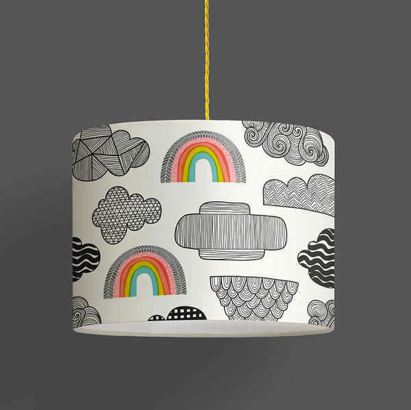 Clouds + Rainbows Lampshade
