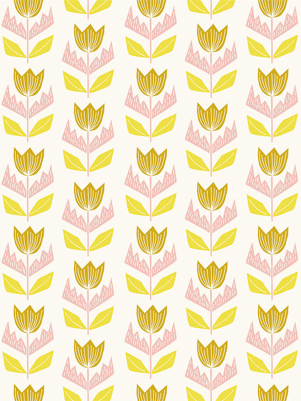 Elin Fabric – Cream Pollen Blush