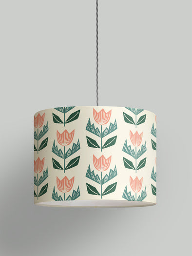 Elin Lampshade – Cream/Agate Green/Plaster