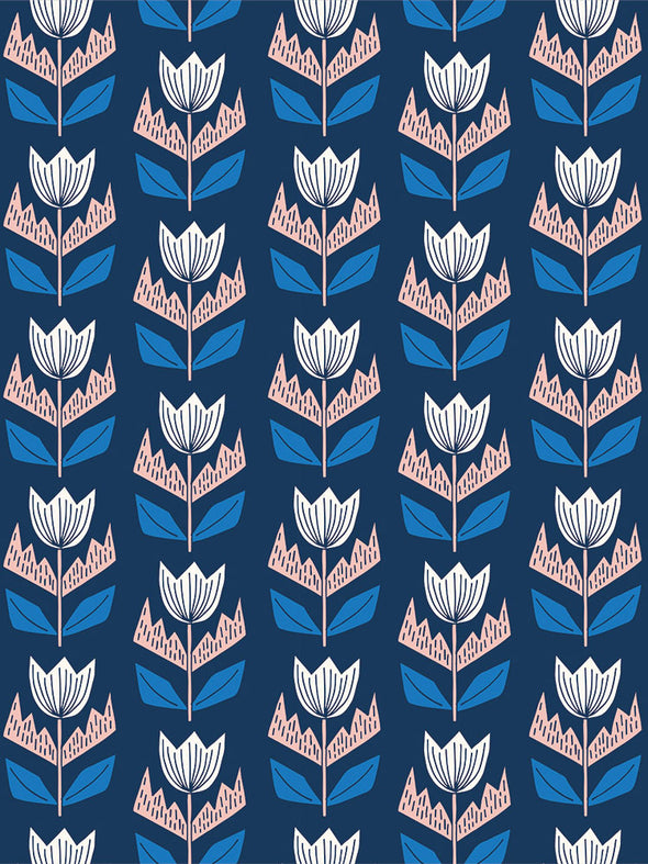 Elin Fabric – Oxford Blue