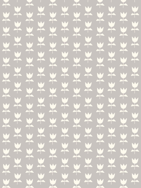 Flora Fabric – French Grey