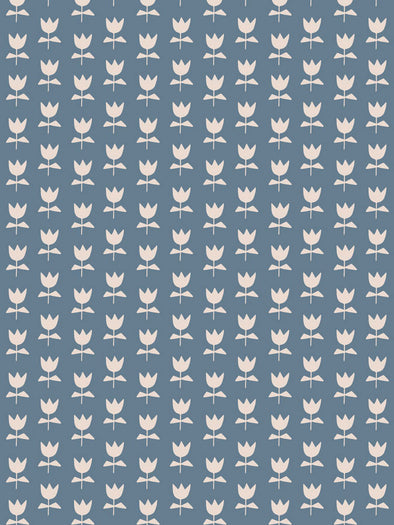 Flora Fabric – Denim