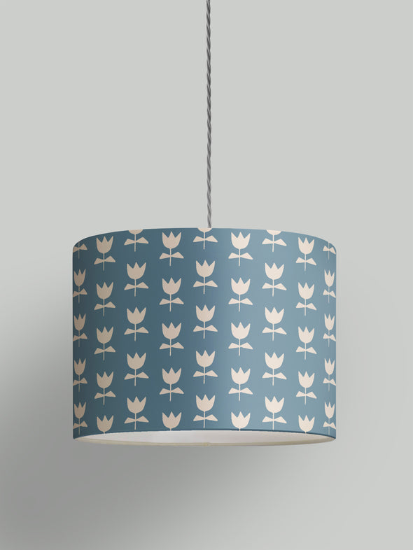 Flora Lampshade – Denim