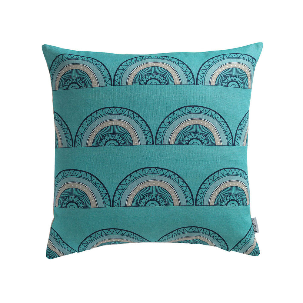 Horseshoe Arch Cushion (Teal) Cover