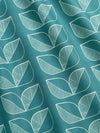 Demi Rosette Fabric – Teal