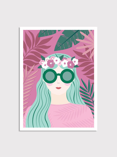 Tropical Girl Print