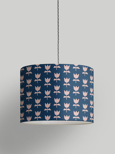 Flora Lampshade – Oxford Blue
