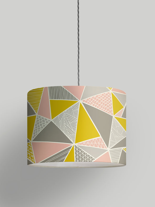 Tress Lampshade – Grey Mustard Blush