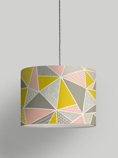 Tress Lampshade Sale – Grey Mustard Blush
