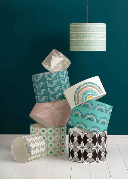 Horseshoe Arch Lampshade (Teal)