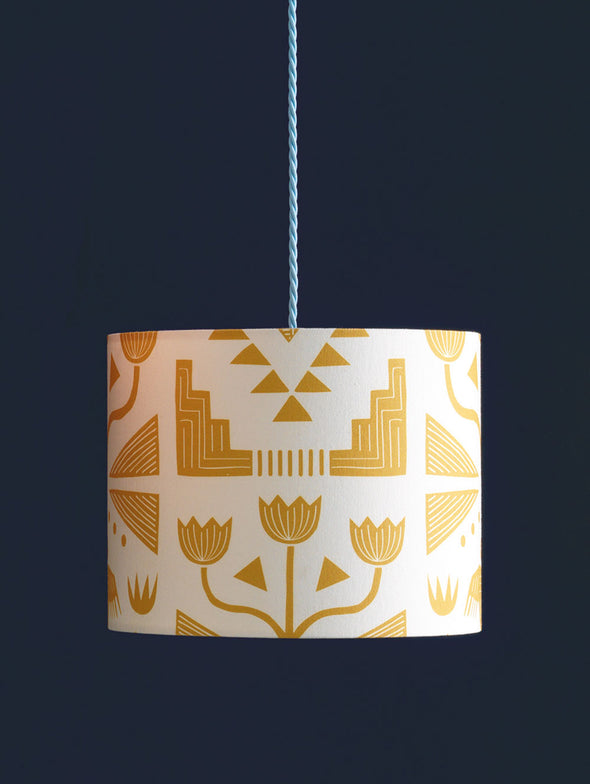 Nazca Lampshade Sale – Gold