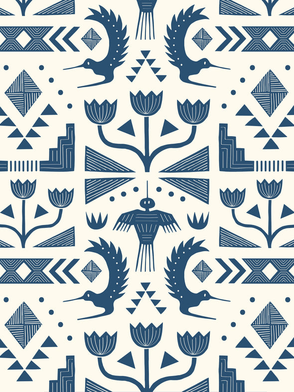 Nazca Fabric – Oxford Blue