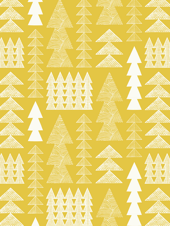 Nordic Forest Wallpaper – Mustard