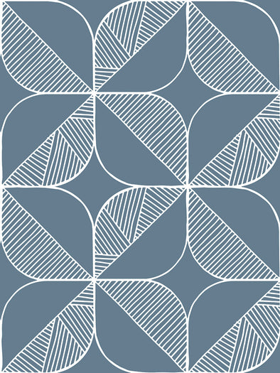 Rosette Fabric – Denim