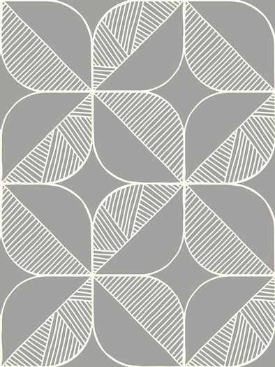 Rosette Fabric – Warm Grey