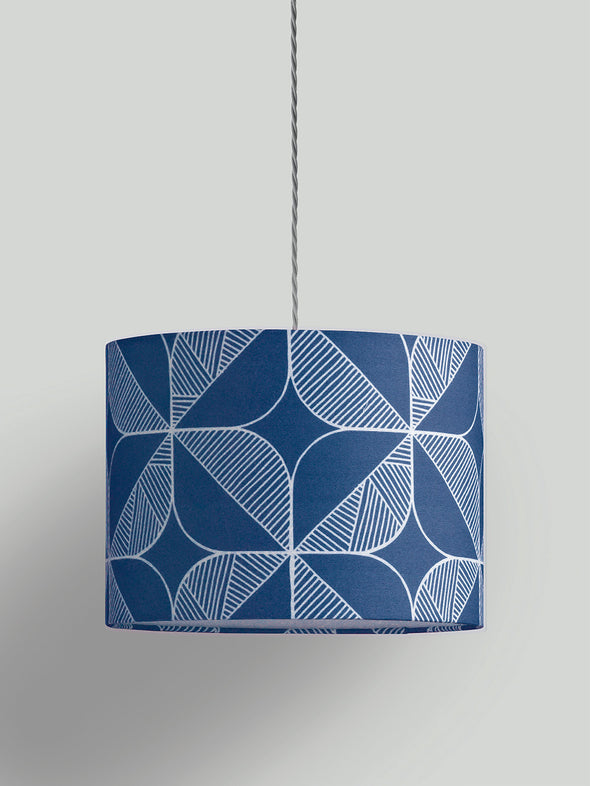 Rosette Lampshade – Oxford Blue