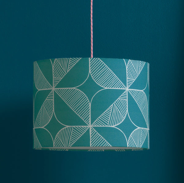 Rosette Lampshade (Teal)