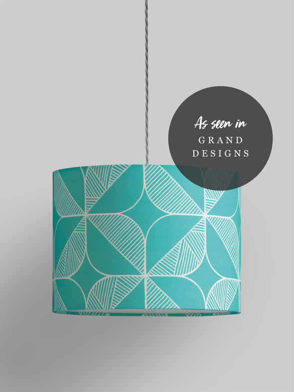 Rosette Lampshade – Turquoise