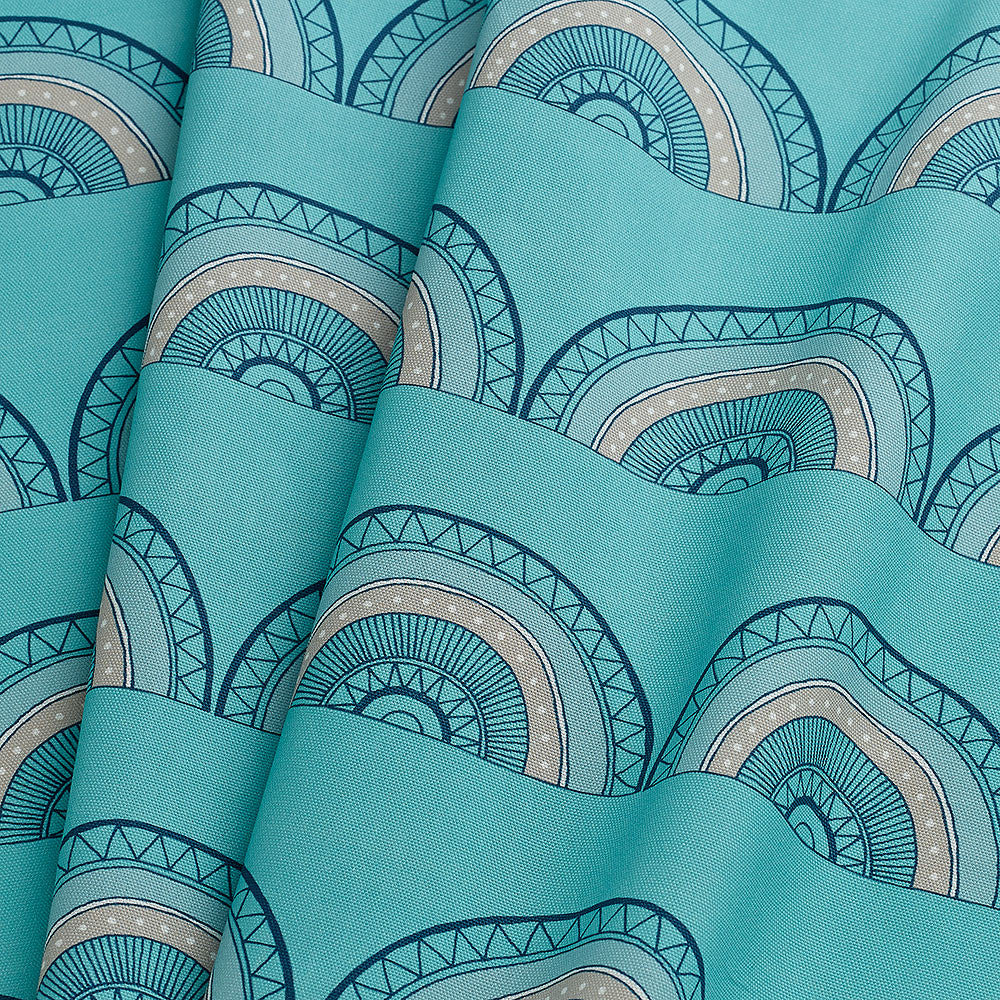 Horseshoe Arch Fabric (Teal)