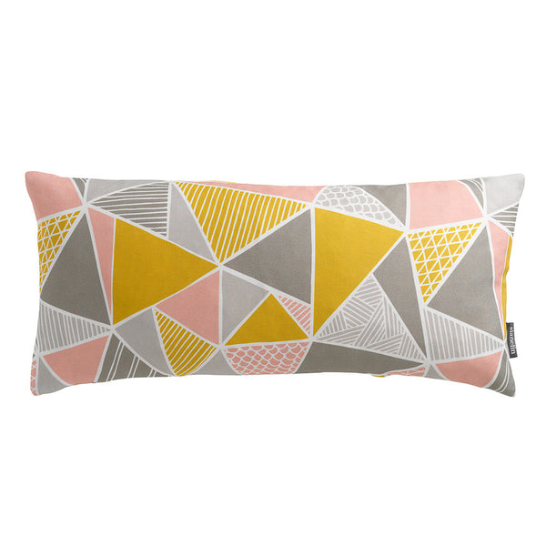 Tress (Yellow, Pink, Grey) Bolster Cushion