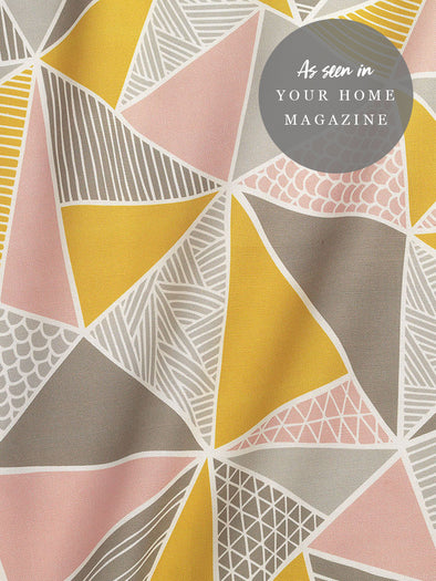 Tress Fabric – Grey Mustard Blush