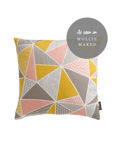 Tress Cushion – Grey Mustard Blush