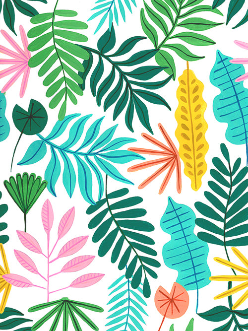 Tropical Forest Fabric Sample