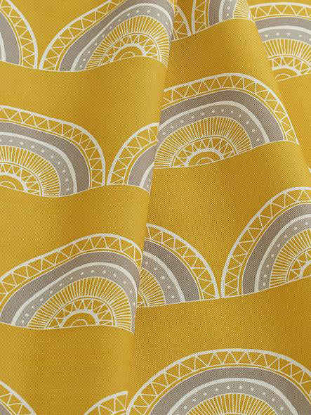 Horseshoe Arch Fabric (Yellow) Sample